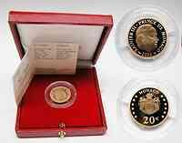 Monaco : 20 Euro Rainier III. inkl. Originaletui und Zertifikat (nur 3500 Exemplare !)  2002 PP