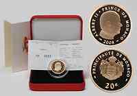 Monaco : 20 Euro Albert II. inkl. Originaletui und Zertifikat  2008 PP 20 Euro Monaco 2009