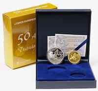 Spanien : 210 Euro Set: 10 Euro + 200 Euro Römische Verträge inkl. Originaletui und Zertifikat  2007 PP