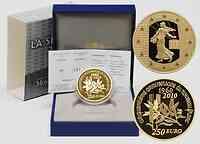 Frankreich : 250 Euro 50. Geburtstag des neuen Francs 1960 Piédfort inkl. Originaletui und Zertifikat  2010 PP
