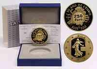 Frankreich : 250 Euro 10 Jahre Euro Bargeld  2012 PP