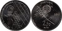 Portugal : 2,5 Euro Olympische Spiele London  2012 vz/Stgl.