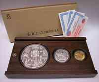 """Spanien : 260 Euro komplettes Set der Serie """"1. Geburtstag des Euros"""" - 1 x 10 EURO + 1 x 50 EURO +  1 x 200 EURO Gold  inkl. Zertifikaten und Originalholzkassette !  2003 PP"""