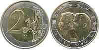 Belgien 2 Euro Henri und Albert II. 2005 vz/Stgl.