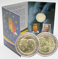 Belgien : 2 Euro Henri und Albert II. im Originalblister  2005 vz/Stgl.