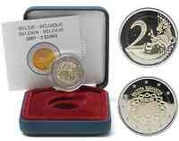 Belgien : 2 Euro R�mische Vertr�ge im Originaletui  2007 PP