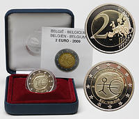 Belgien 2 Euro 10 Jahre Euro 2009 PP