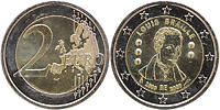 Belgien : 2 Euro Louis Braille  2009 bfr