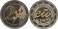 Belgien : 2 Euro EU-Präsidentschaft  2010 bfr 2 Euro Belgien 2010