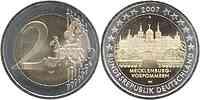 Deutschland : 2 Euro Mecklenburg - Vorpommern Schloß Schwerin Komplettsatz 2007 vz/Stgl.