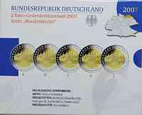 Deutschland : 2 Euro Mecklenburg - Vorpommern Schlo� Schwerin Komplettsatz im Originalblister  2007 PP