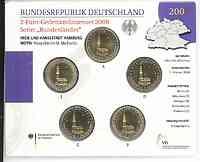 Deutschland : 2 Euro Hamburger Michel - St. Michaeliskirche Komplettsatz im Originalblister 5 x 2 Euro  2008 Stgl.