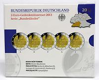 Deutschland : 2 Euro Baden Württemberg - Zisterzienserkloster Maulbronn Komplettsatz 5x2 Euro  2013 PP