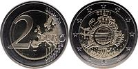 Estland : 2 Euro 10 Jahre Euro Bargeld 2012 bfr