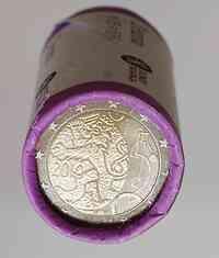 Finnland : 2 Euro 150 Jahre Finnische Währung in Originalrolle - 25 Stücke  2010 Stgl.