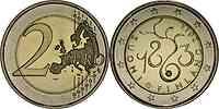 Finnland : 2 Euro Parlament von 1863 2013 bfr