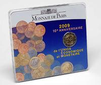Frankreich 2 Euro 10 Jahre Euro im Originalblister 2009 Stgl.