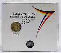 2 Euro 50 Jahre Elysée-Vertrag 2013 Stgl. / Blister