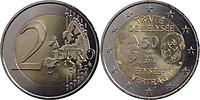 Frankreich : 2 Euro 50 Jahre Elysée-Vertrag  2013 bfr