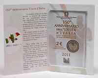 Blister 2 Euro 150 Jahre Einigung Italiens 2011 Stgl.