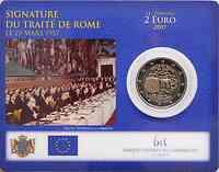 Luxemburg 2 Euro Römische Verträge in Coincard 2007 Stg