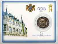 Luxemburg 2 Euro Henri und Charlotte in Coincard 2009