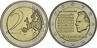 Luxemburg : 2 Euro Nationalhymne  2013 bfr