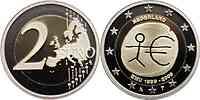 2 Euro Niederlande 2009 - 10 Jahre Euro - PP -ab Lager