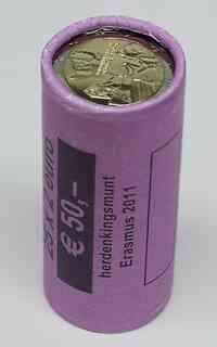 Niederlande 2 Euro Originalrolle Erasmus 2011
