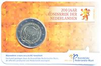 Niederlande 2 Euro Königreich 2013 Stgl. in Coincard