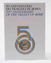 2 Euro Gedenkmünze 2007 / 2 Euro Sondermünze 2007 Portugal Römische Verträge im Originalblister