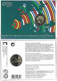 2 Euro Gedenkmünze 2007 / 2 Euro Sondermünze 2007 Portugal EU-Präsidentschaft im Originalblister