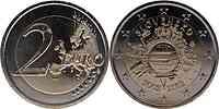 Slowakei : 2 Euro 10 Jahre Euro Bargeld  2012 bfr