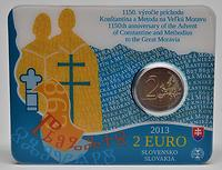 Slowakei 2 Euro Cyrill und Method 2013 Stgl. / Coincard
