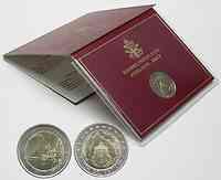 Vatikan 2 Euro 75 Jahre Gründung des Vatikan 2004 Stgl.