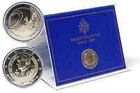 2 Euro Gedenkmünze 2007 / 2 Euro Sondermünze 2007 Vatikan 80. Geburtstag des Papstes
