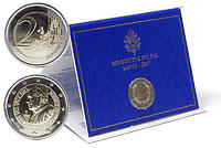 Vatikan : 2 Euro 80. Geburtstag des Papstes  2007 Stgl. 2 Euro Vatikan 2007