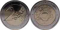 Zypern : 2 Euro 10 Jahre Euro Bargeld  2012 bfr