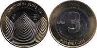 Slowenien : 3 Euro 20 Jahre Unabhängigkeit Sloweniens  2011 Stgl.