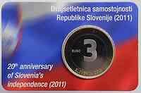Slowenien : 3 Euro 20 Jahre Unabhängigkeit Sloweniens  2011 PP