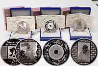Frankreich : 4,5 Euro 3 x 1,5 Euro Set : Japanische Malerei, Französische Malerei, Kanei-Thuho Münze im Originaletui mit Zertifikat  2008 PP 3 x 1,5 Euro Frankreich Japan