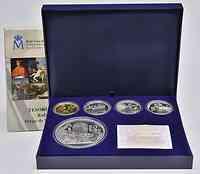 Spanien : 480 Euro Komplettset : 400 Euro Gold + 50 Euro + 3x10 Euro Silber  2013 PP