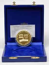 Frankreich : 5000 Euro Moskauer Kreml inkl. Originaletui und Zertifikat  2009 PP Frankreich 1Kg Gold