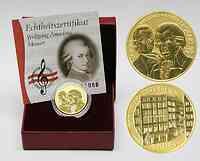 Österreich : 50 Euro Wolfgang Amadeus Mozart inkl. Originaletui und Zertifikat  2006 PP 50 Euro Mozart; 50 Euro Österreich 2006