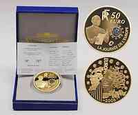 Frankreich : 50 Euro Schuman - blaues Gold, incl. Originaletui und Zertifikat  2006 PP 50 Euro blaues Gold
