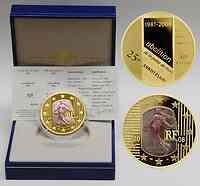 Frankreich : 50 Euro Abschaffung der Todesstrafe blaues/lila Gold inkl. Originaletui und Zertifikat  2006 PP Frankreich blaues Gold; blaues Gold; 50 Euro Frankreich 2006; mauve gold