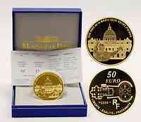Frankreich : 50 Euro Papst Benedikt -  inkl. Originaletui und Zertifikat  2006 PP 50 Euro Benedikt 2006 Frankreich