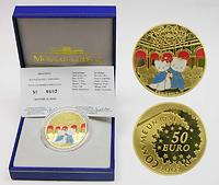 Frankreich : 50 Euro Kitty und Daniel in Versailles inkl. Originaletui und Zertifikat  2005 PP 50 Euro Hello Kitty