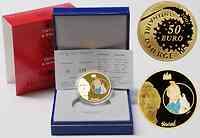Frankreich : 50 Euro Tim und Struppi inkl. Originaletui und Zertifikat  2007 PP 50 Euro Tin Tin; 50 Euro TIm und Struppi