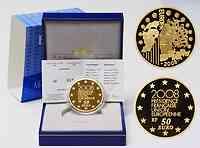 Frankreich : 50 Euro EU-Präsidentschaft inkl. Originaletui und Zertifikat  2008 PP 50 Euro Europa 2008 Frankreich